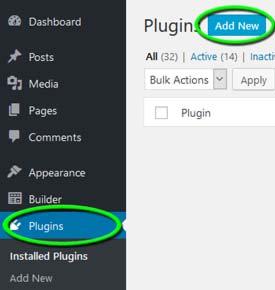 Step 1 - Plugins -- Add New