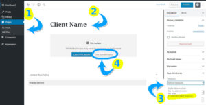 steps 1 to 4 how to create a client demo page.